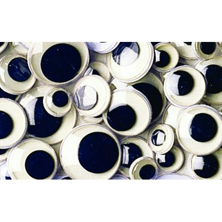 - Creativity Street Round Wiggle Eye, 10 mm, Black on White, Pack of 100