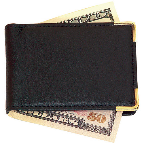 Royce Leather Large Magnetic Money Clip with Suede Lining in Genuine Leather