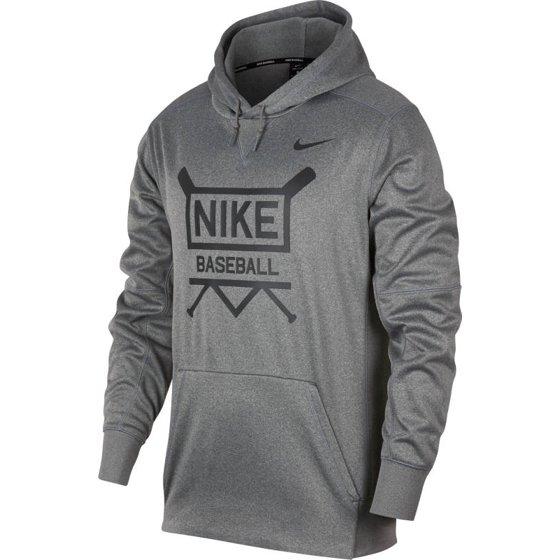 finest selection 02ba3 a88ee Nike - Nike Men s Therma Baseball Hoodie AA0693-063 Dk Grey Heather ...