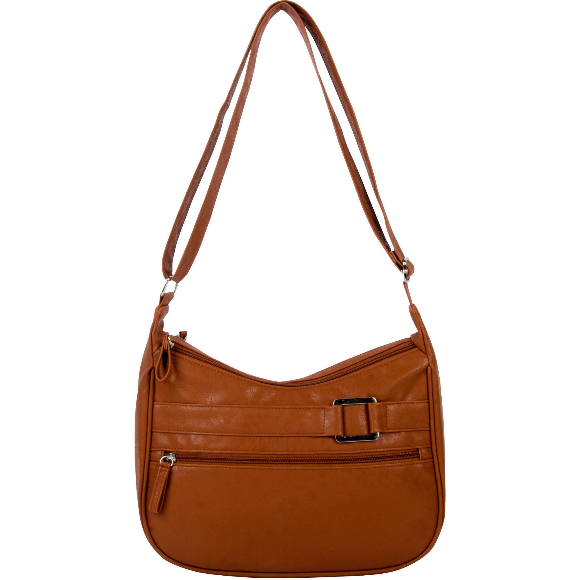 Women's Double Zip Hobo Handbag