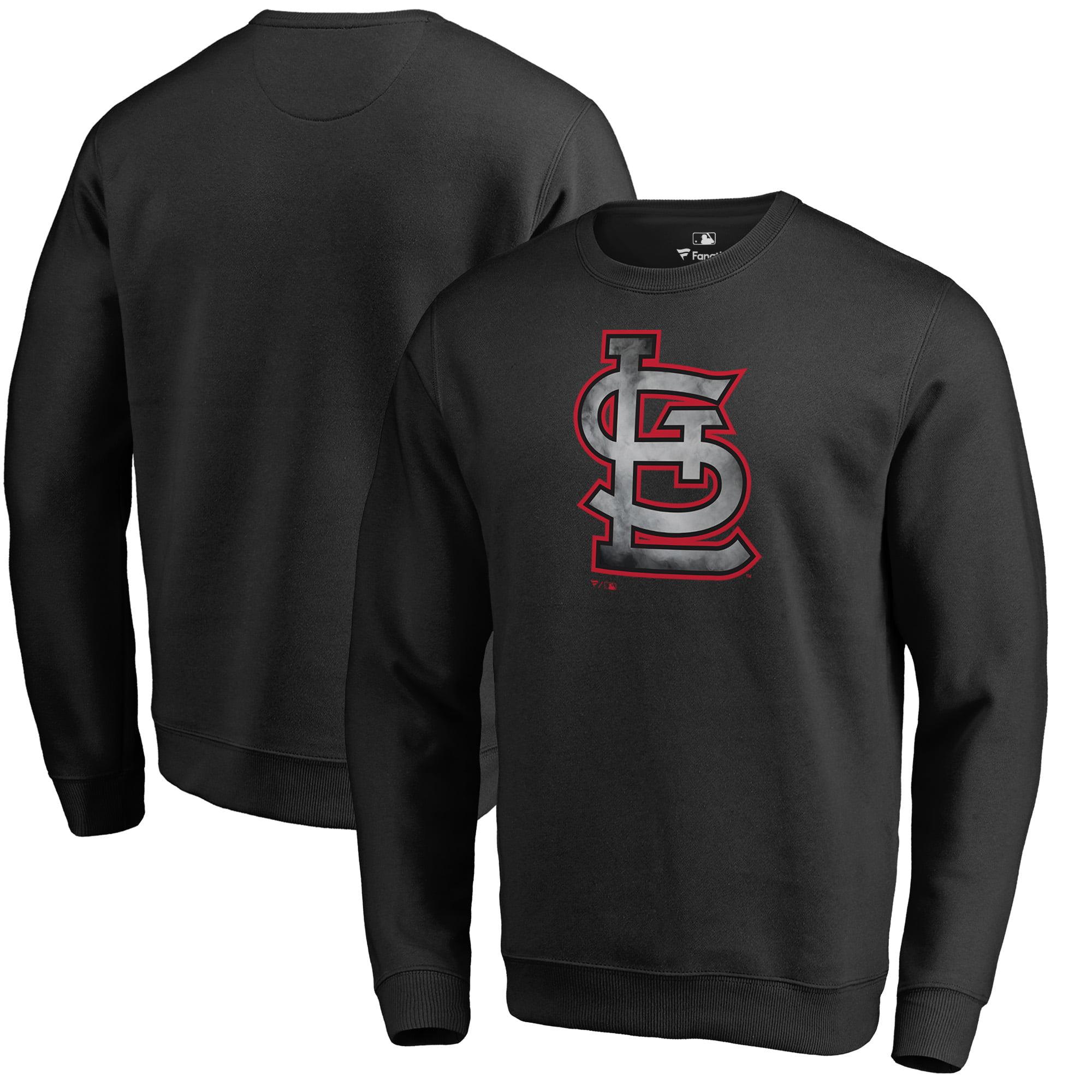 St. Louis Cardinals Fanatics Branded Core Smoke Fleece Sweatshirt - Black