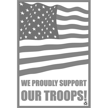 We Proudly Support Our Troops American Flag Black And White Disposable Paper Floor Mats No Dirt Foot Print For Commerc Bronco Front Floor Mat