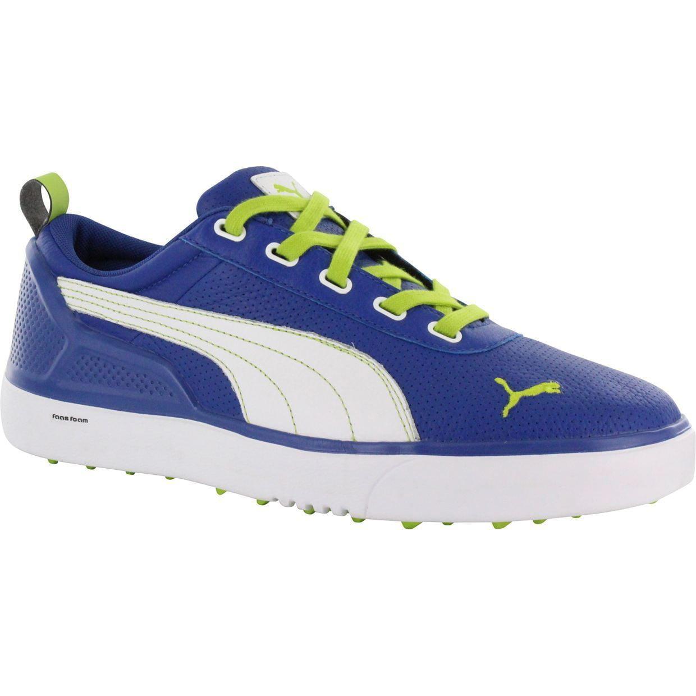 Puma  Mens Monolite Spikeless Monaco Blue/ Lime Green Golf Shoes
