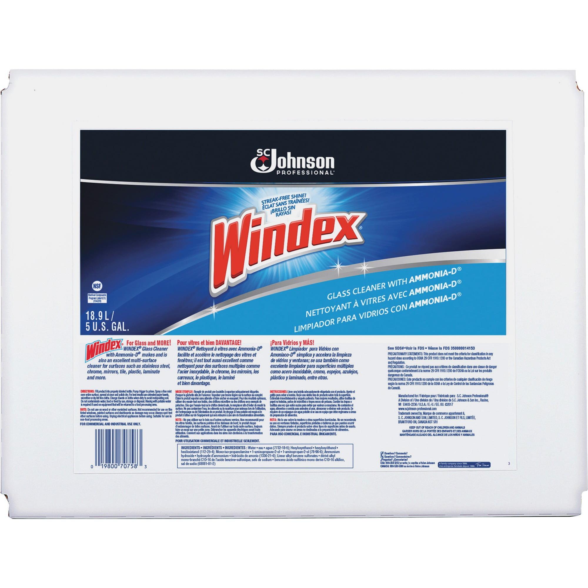 Windex®, SJN696502, Cleaner Bag-In-A-Box, 1 Each, Blue