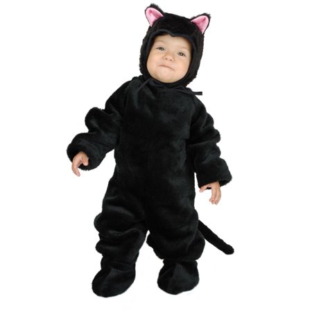 Black Cat Toddler Costume (LITTLE BLACK CAT kitty animal kids boys girls toddler halloween costume 2T -)