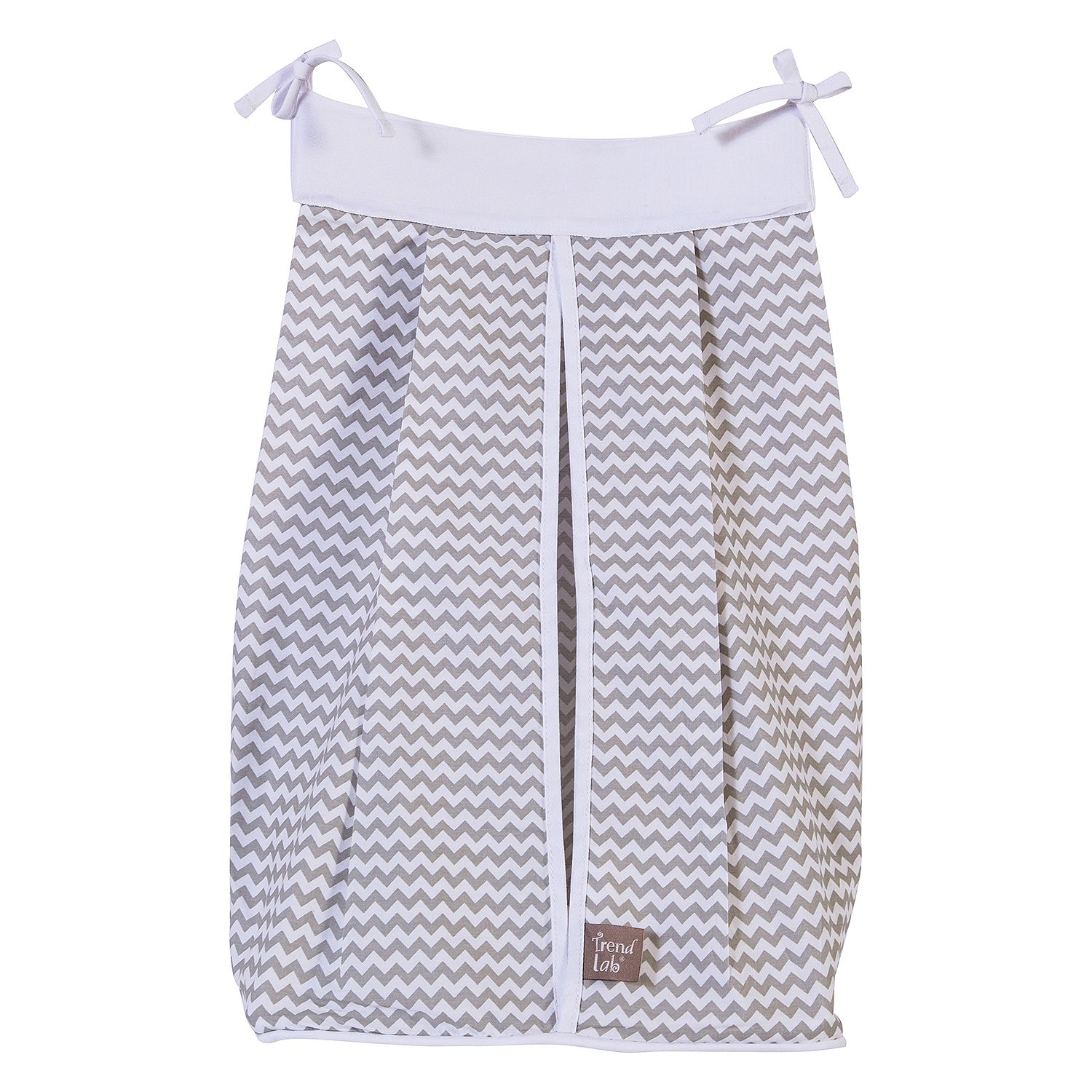 Product of Trend Lab Diaper Stacker, Dove Gray Chevron Diaper Stackers [Bulk Savings] by Product of trend lab