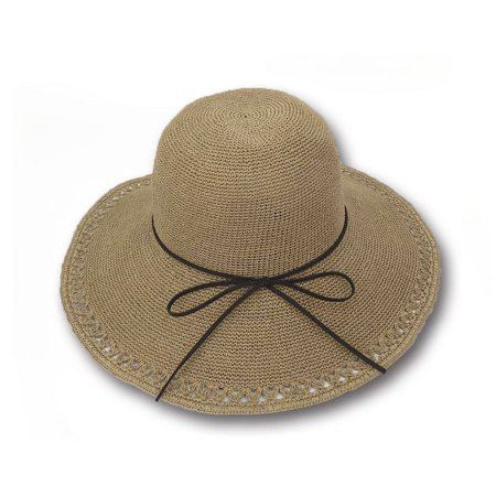 d03b8b6cf1374 Sun Styles Foldable Crushable Aurora Women s Organic Raffia Sun Hat - Light  Pink - image 1 ...