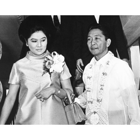 President Ferdinand Marcos Of The Philippines And His Wife In Imelda Romualcez Marcos April 15