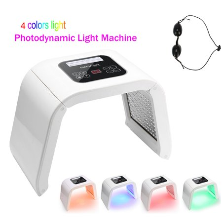 WALFRONT 4 Colors Photon PDT LED Light Therapy Machine Skin Facial Care Rejuvenation Treatment Salon Spa Beauty Equipment ()
