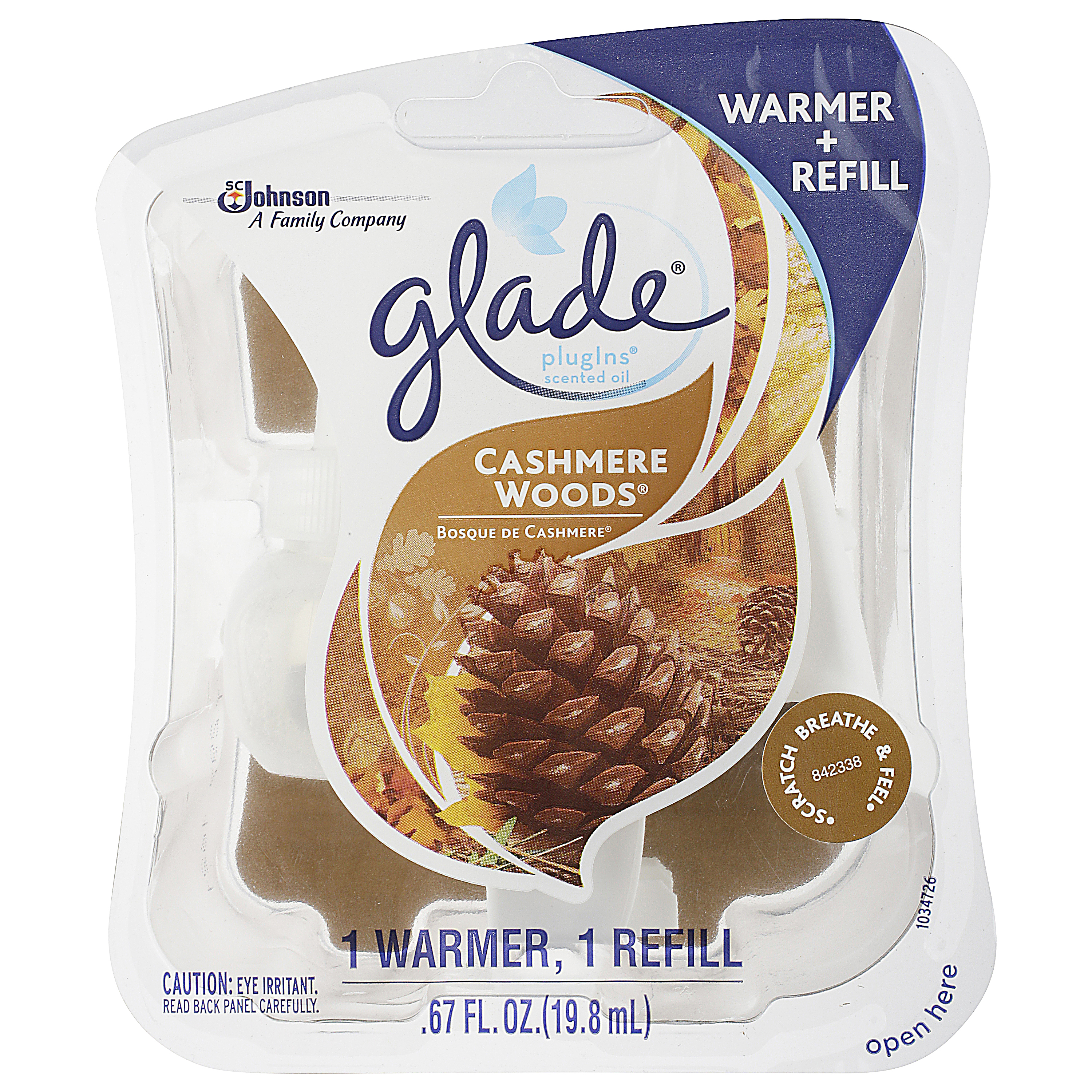 Glade Plugins Warmer Plus Refill, Cashmere Woods