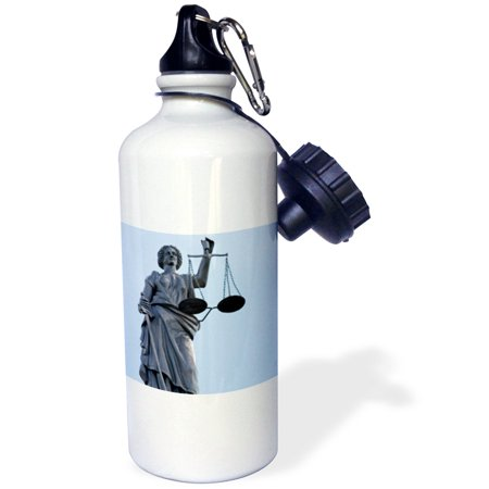 3dRose Scales of Justice, Courthouse, Kansas - US17 DFR0009 - David R. Frazier, Sports Water Bottle, 21oz