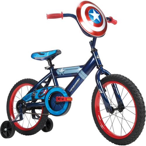 """16"""" Huffy Marvel Captain America Boys' Bike, Blue"""