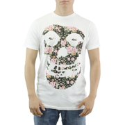 The Misfits Flower Skull Face White T-shirt NEW Sizes XS-2XL