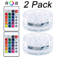 FollureSwimming Pool Light RGB LED Bulb Submersible Underwater LED Light+Remote Control