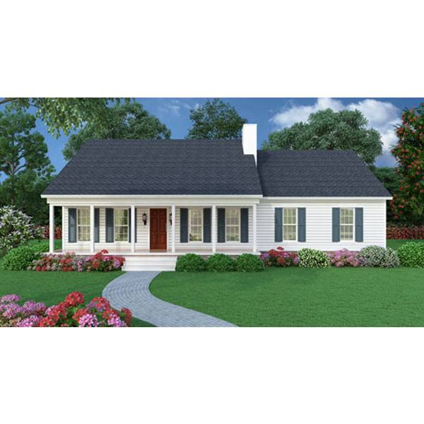 TheHouseDesigners-5458 Small Ranch House Plan with Crawl Space Foundation (5 Printed Sets)