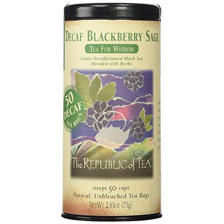 The Republic Of Tea Decaf Blackberry Sage Black Tea, 50 Tea Bags, Herbal Tea For - Blackberry Sage