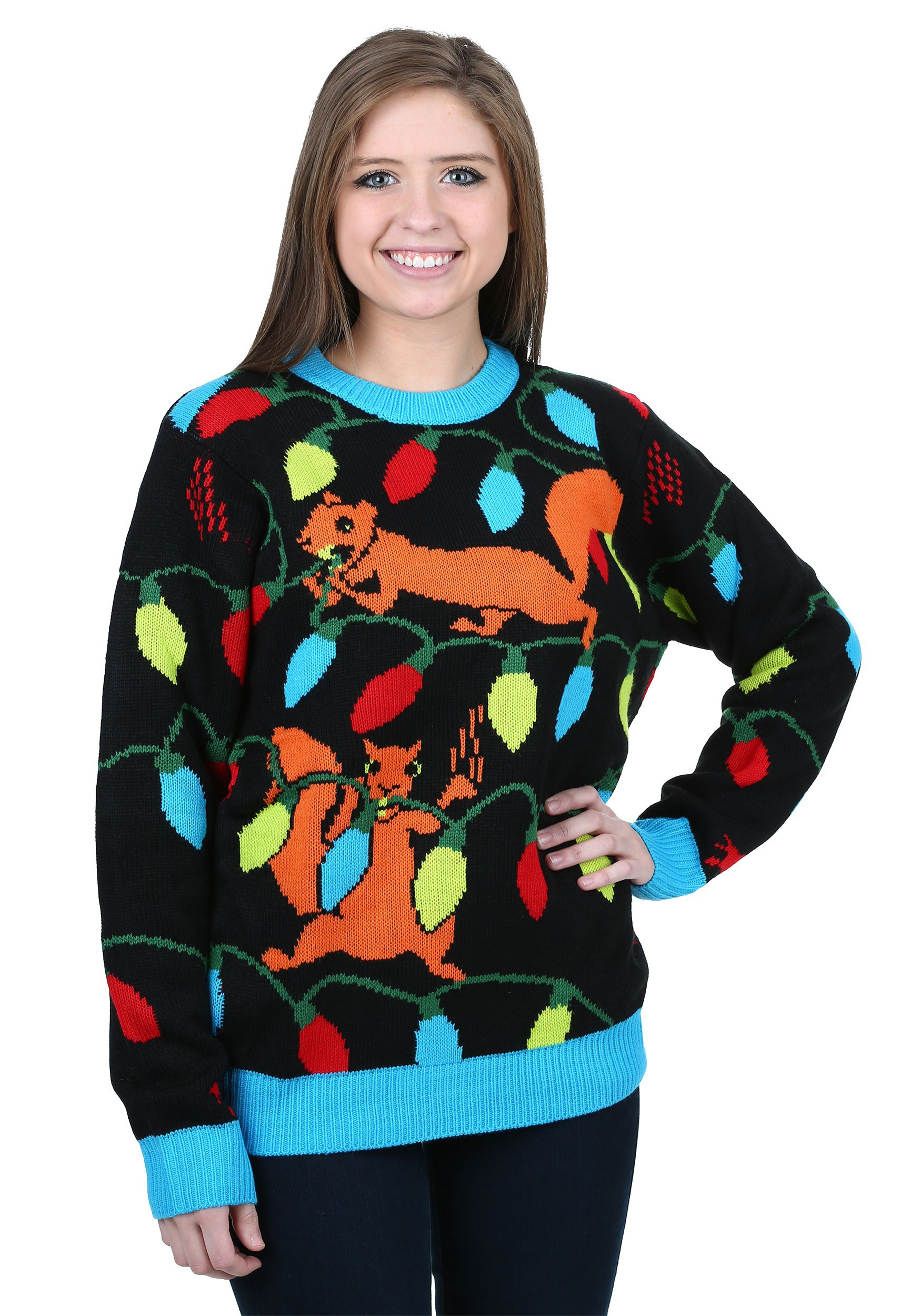 squirrely christmas lights ugly christmas sweater walmartcom