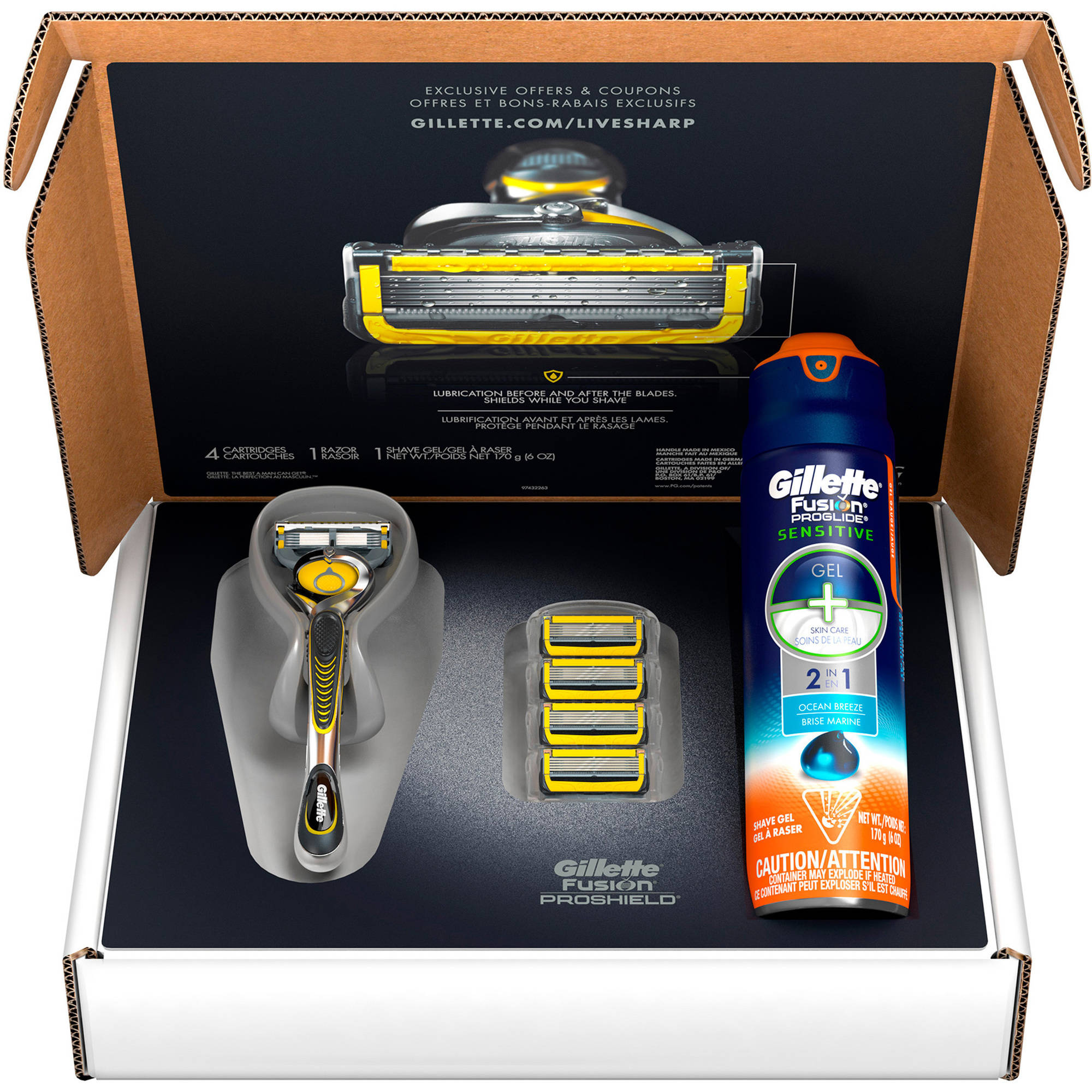 Gillette Fusion ProShield Shave Kit, 6 pc