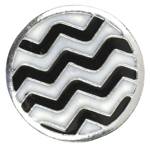 Cousin Snap in Style Metal Snap, Zigzag