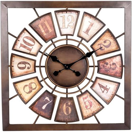 Better Homes and Gardens Square Segment Clock