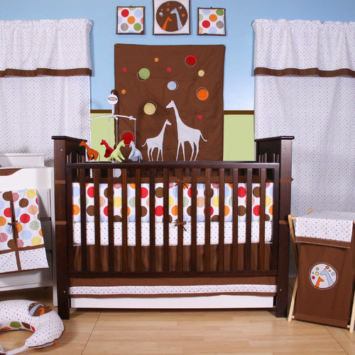 Bacati Baby & Me 10 Piece Crib Bedding Set