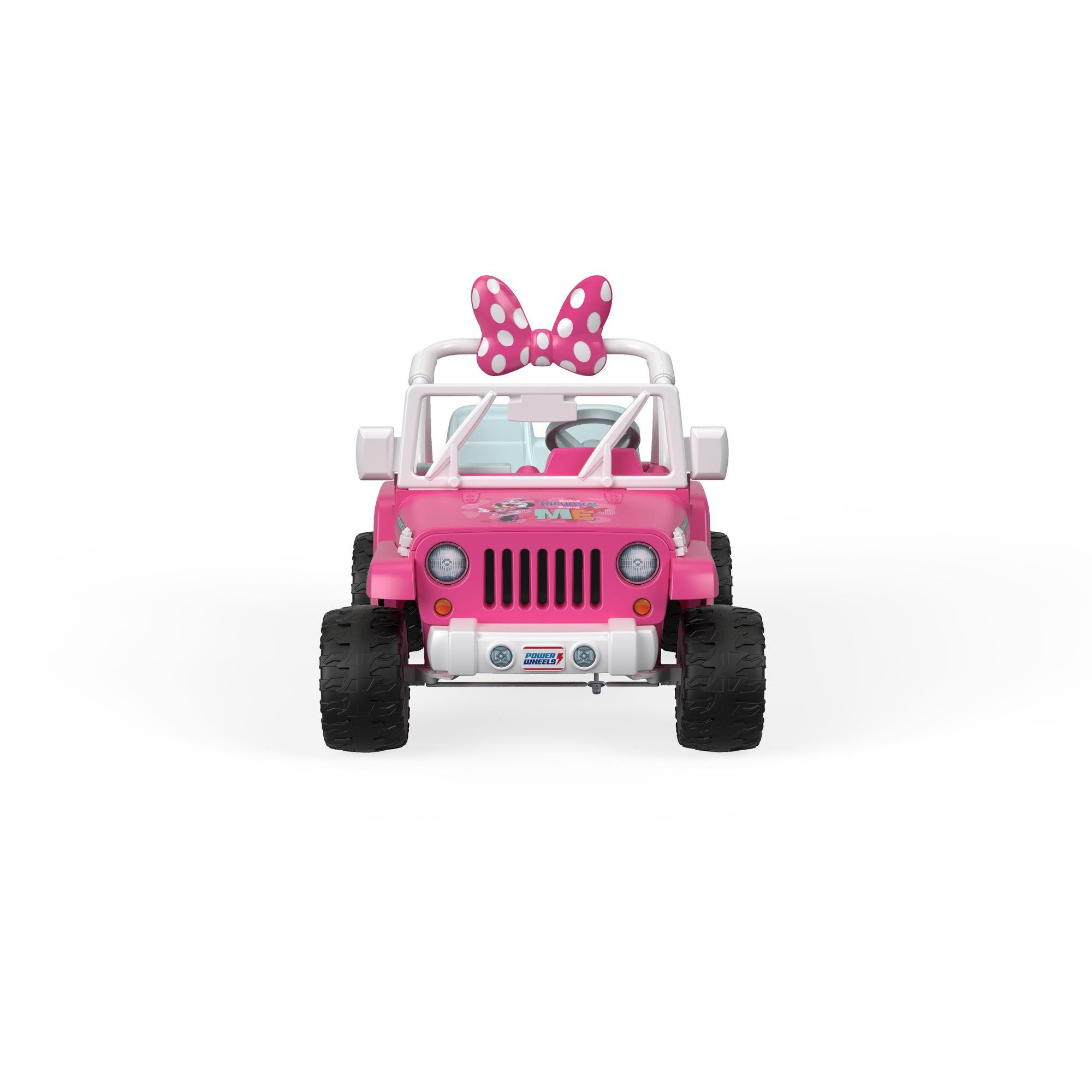 3d001692df71d Power Wheels Disney Minnie Mouse Happy Helpers Jeep Wrangler Girl s Ride On