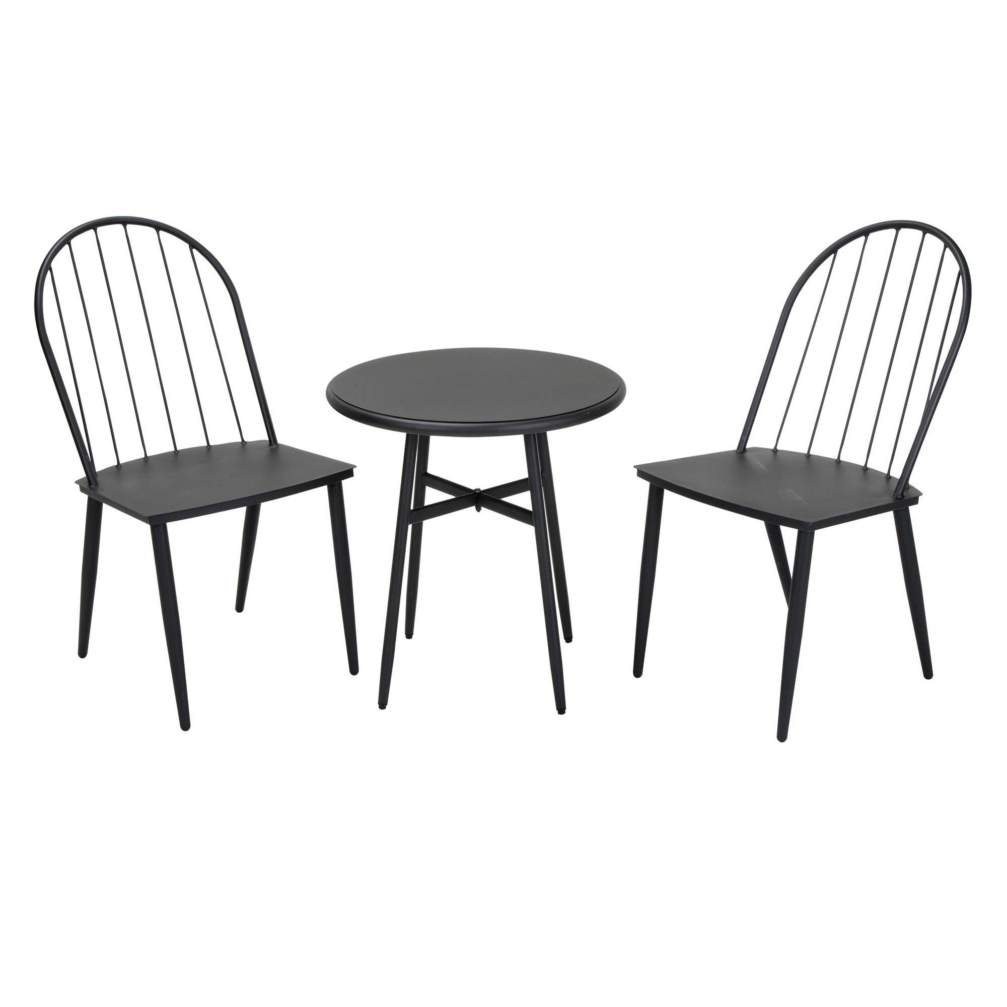 Novogratz 3-Piece Bistro Set, Black