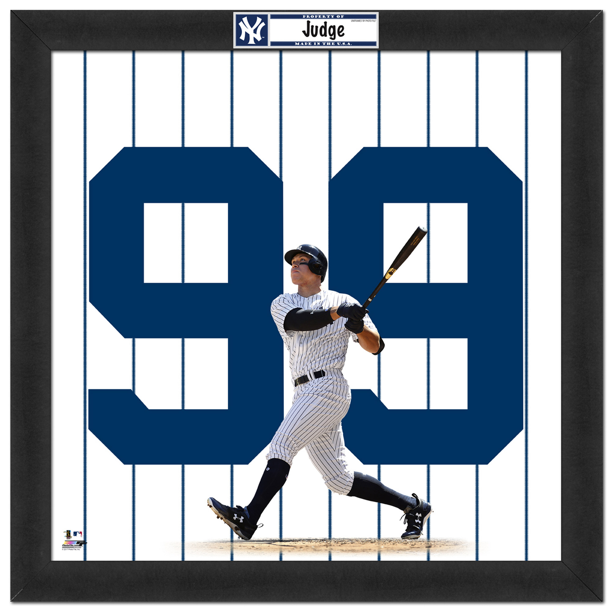 "Aaron Judge New York Yankees 20"" x 20"" Player Uniframe - No Size"