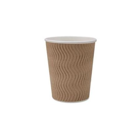Brown Paper Cups (Genuine Joe Ripple Hot Cups - 8 Oz - 25/pack - Brown)