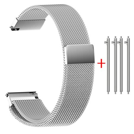 Universal Milanese Magnetic Loop Stainless Steel Watch Strap Bands 14mm A 14mm Ladies Watch Band