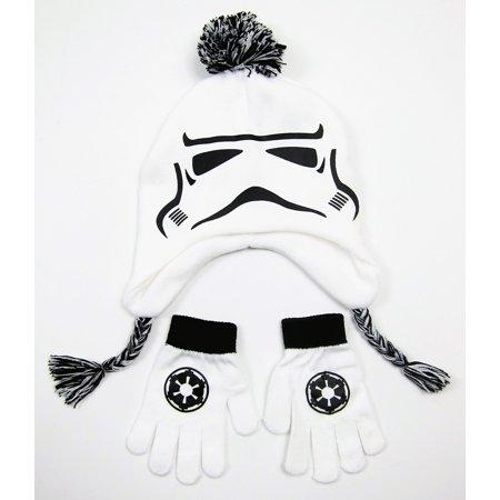 Kids Cute Star wars Stormtrooper Peruvian Winter Beanie & - Stormtrooper Gloves