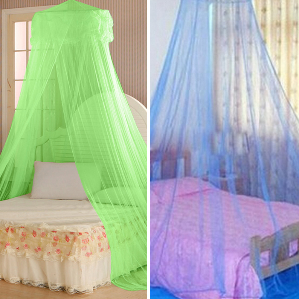 Girl12Queen House Bedding Decor Summer Sweet Style Round Bed Canopy Dome Mosquito Net