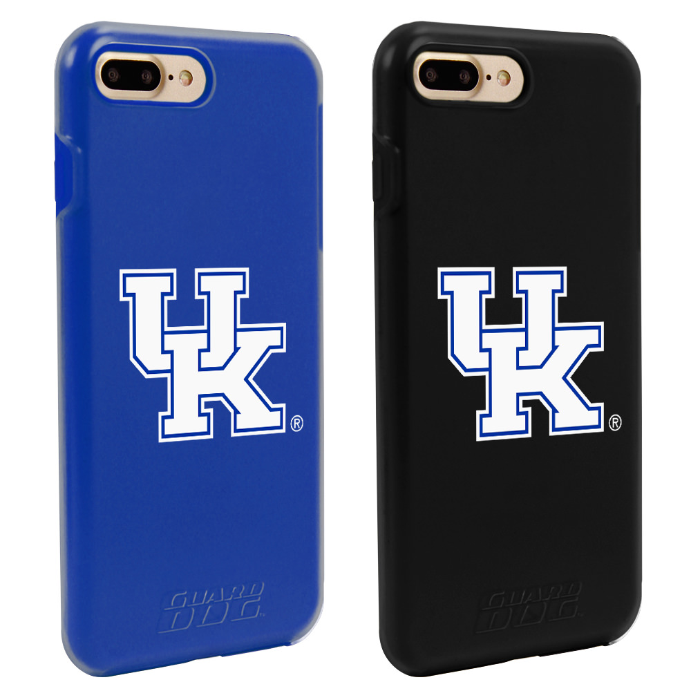 Kentucky Wildcats Fan Pack (2 Cases) for iPhone 7 Plus/8 Plus with Guard Glass Screen Protector NCAA