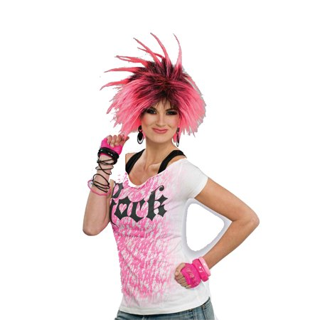 Bubble Gum Punk 1980s Costume Wig 62782 (1980 S Costumes)