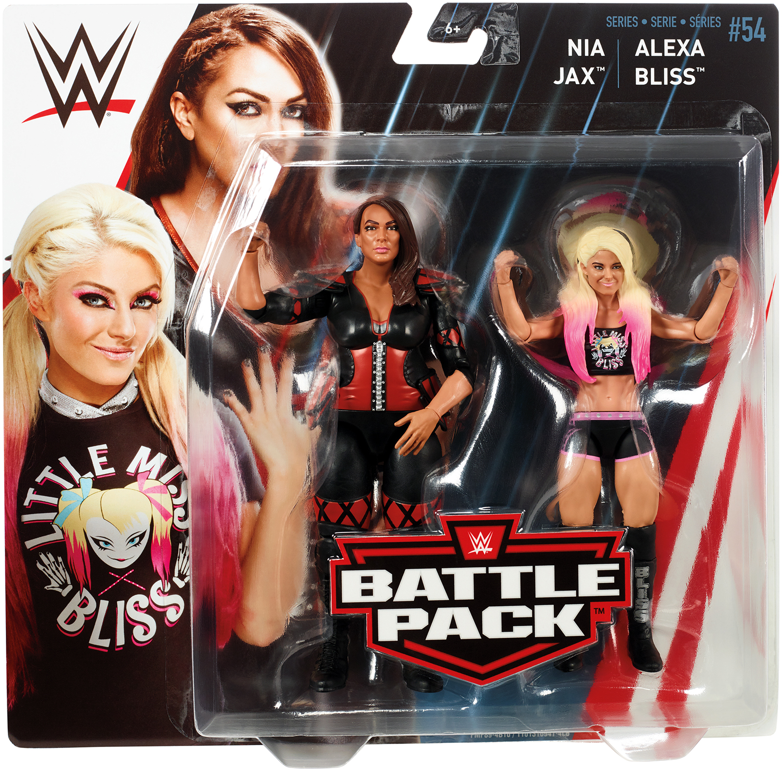 Alexa Bliss & Nia Jax - WWE Battle Packs 54 Toy Wrestling Action Figures