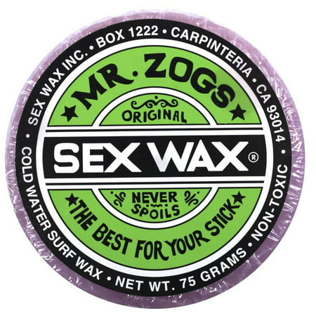 SEX WAX Mr Zogs OG COLD Purple - Grape Scented (Sex Wax For Surf Board)