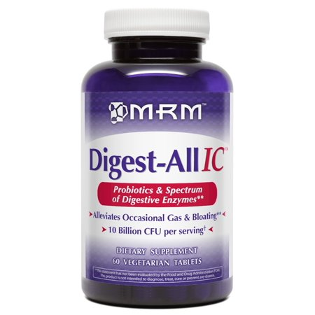 MRM Digest-All IC Probiotic Vegetarian Tablets, 60 Ct