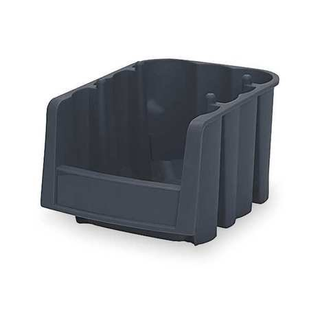 Akro-Mils 6 lb Capacity, Stack and Nest Bin, Black