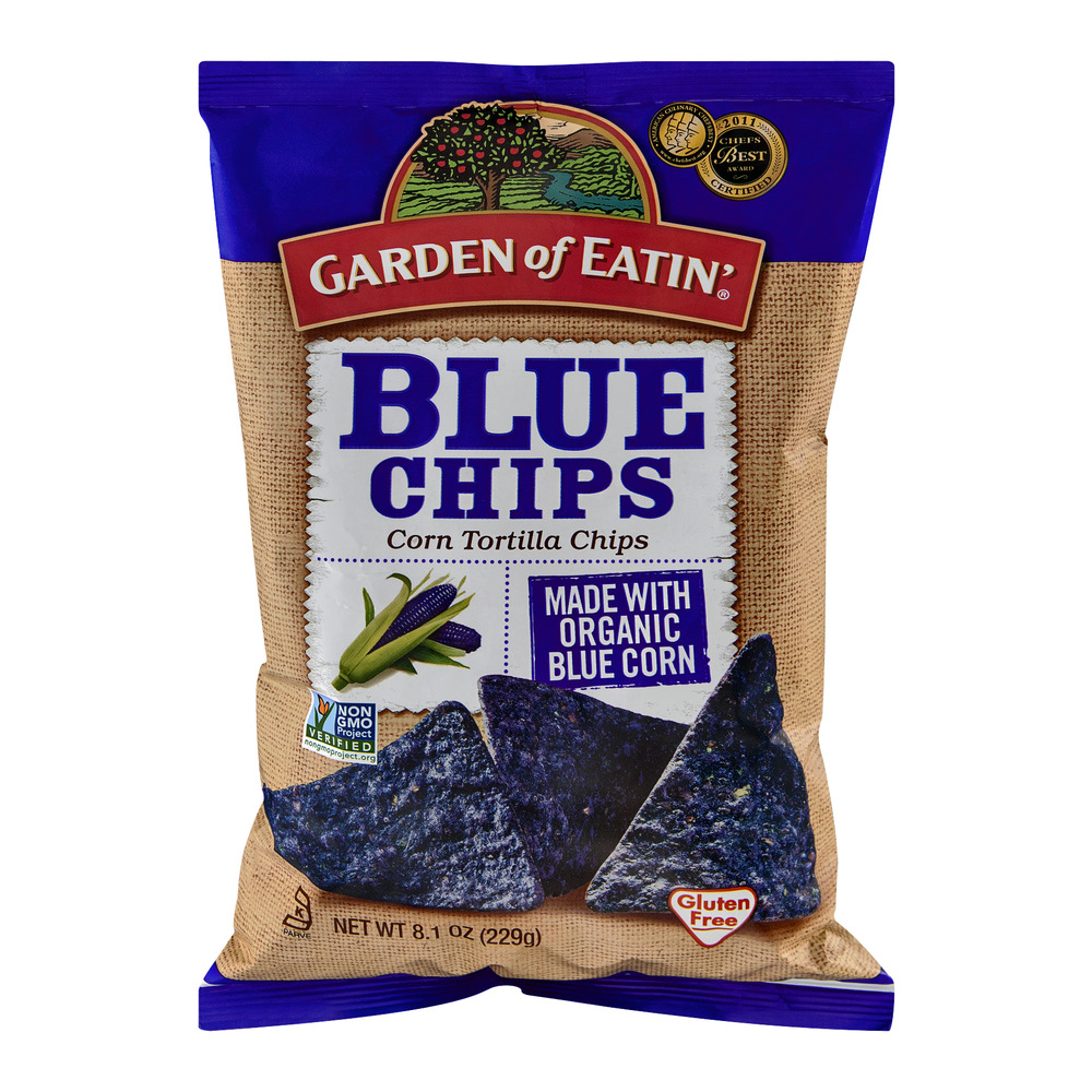 (3 Pack) Garden of Eatin' Blue Corn Tortilla Chips, 8.1 oz.