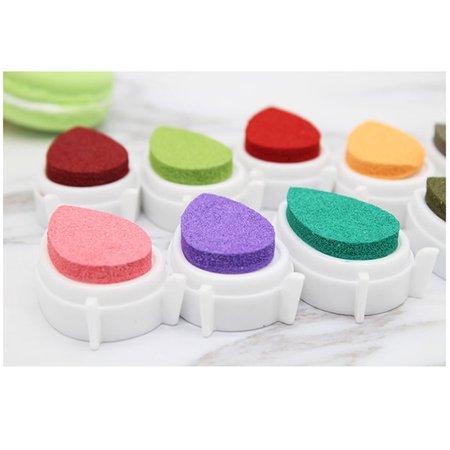 Mini Water Droplets Shape Ink pad Colorful Ink Pad/Ink Stamp Pad/Inkpad Set - image 4 de 10