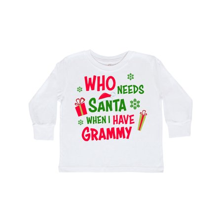 I Need A Good Costume For Halloween (Who Needs Santa When I Have Grammy Toddler Long Sleeve)