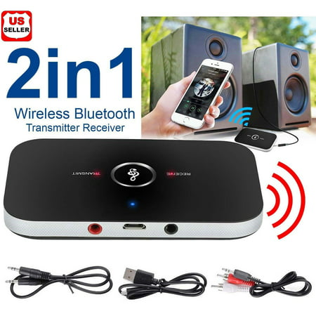 LINKPAL Bluetooth Transmitter & Receiver,Wireless Stereo Audio Adapter Car Kit for TV,Headphone,Home Stereo System,Computer, Bluetooth V4 Transmitter & Receiver Wireless A2DP - Battery Bluetooth Audio