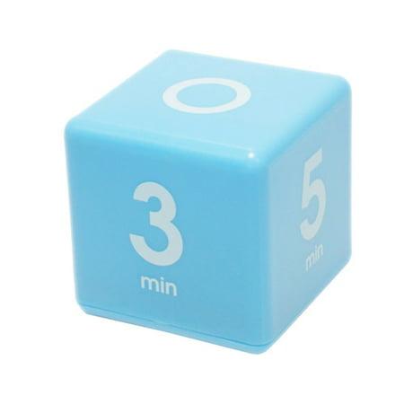 Cube Timer 1-3-5-7 minute preset timer- Blue (Df 01b Timer)