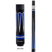Stryker B31250 Pool Cue Stick Blk w/ Linen Wrap + Quick-Release Joint+ Joint Protectors