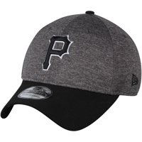 Pittsburgh Pirates New Era Shadow Tech 39THIRTY Flex Hat - Heathered Gray/Black