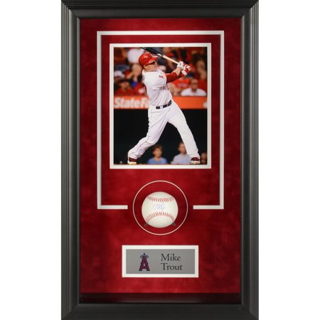 Mike Trout Anaheim Angels Framed Autographed Baseball Shadowbox - Fanatics Authentic Certified