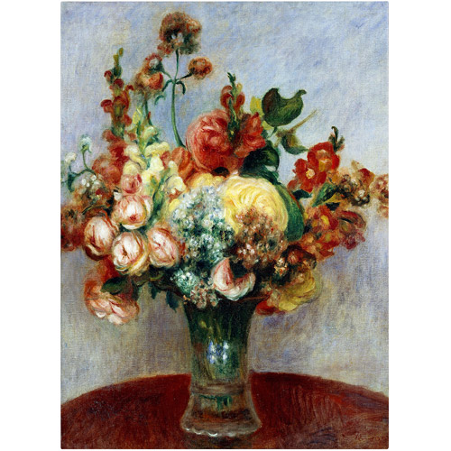 "Trademark Fine Art ""Flowers In a Vase"" 1898 Canvas Art by Pierre-Auguste Renoir"