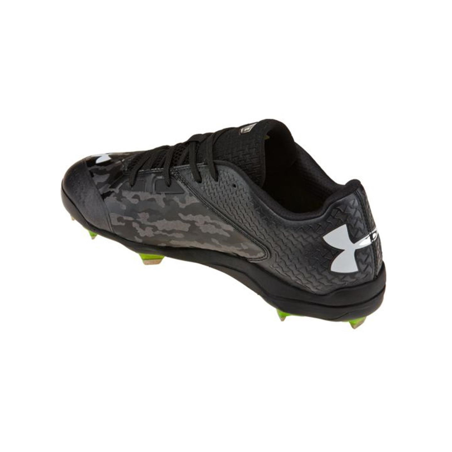 UNDER ARMOUR DECEPTION LOW DT BLK/CARB MENS METAL BASEBALL CLEATS US 11.5 M, EU 45.5