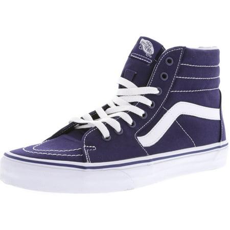 Vans - Vans Men s Sk8-Hi Canvas Patriot Blue High-Top Skateboarding Shoe -  10M - Walmart.com d298351ec