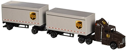 Daron UPS Die Cast Tractor with 2 Trailers by Realtoy